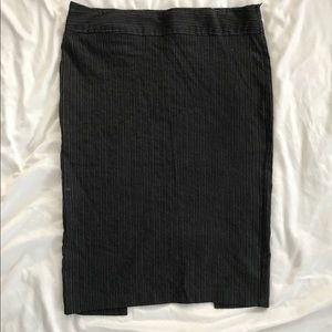 Pin stripped pencil skirt